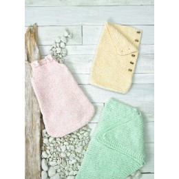 JB693 Shawl & Sleeping Bags for Babies in James C Brett Baby Velvet Chunky