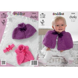 KC3554 Cardigan, Poncho and Accessories for Babies