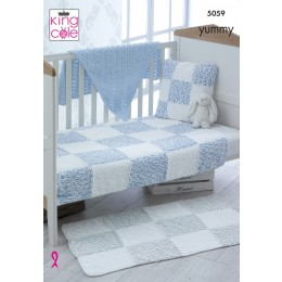 KC5059 Blanket, Rug, Cushion and Shawl for Babies in King Cole Yummy