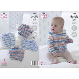 KC5069 Sweaters and Slipovers for Babies in King Cole Candystripe DK