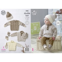 KC5086 Sweaters, Hats and Socks for Babies in King Cole Cherish and Cherished DK