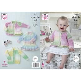 KC5141 Babies Cardigans & Dress in Melody DK
