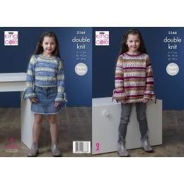 KC5164 Girls Sweater & Dress in Splash DK