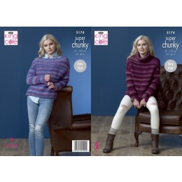 KC5174 Ladies Sweaters in King Cole Orbit Super Chunky