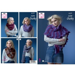 KC5177 Snoods and Shawls in King Cole Orbit Super Chunky