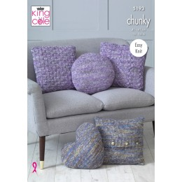 KC5193 Cushions in King Cole Shadow Chunky