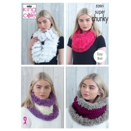 KC5201 Cowls in King Cole Tufty Super Chunky and Big Value Super Chunky