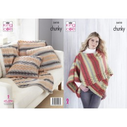 KC5410 Wrap, Throw & Cushion Covers in King Cole Riot Chunky