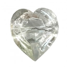 Crystal Look Heart Shaped Button