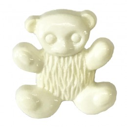 Cream Teddy Bear Button