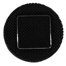 Black Textured Button With Square 25mm