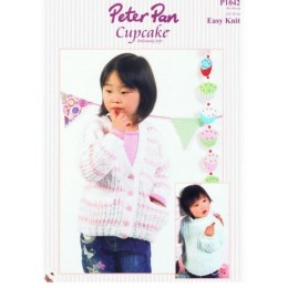 P1042 Cardigan and Sweater for Girls in Peter Pan Cupcake
