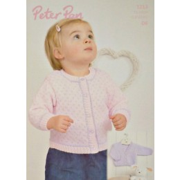 P1213 Babies/Toddlers Spotted and Plain Cardigans in DK
