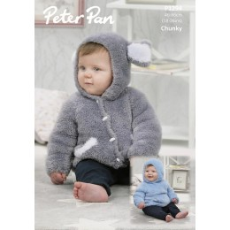 P1294 Hooded Sweater and Jacket in Peter Pan Precious Chunky