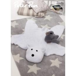 P1299 Polar Bear Rug & Duckling in Peter Pan Precious Chunky