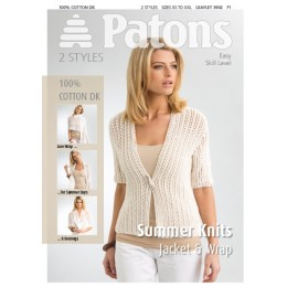 Patons 3902 Ladies Jacket and Wrap in 100% Cotton DK