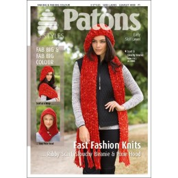 Patons 3939 Big Fast Fashion Knit leaflet  Hat, Scarf and Headwear using Super Chunky