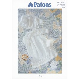 Patons 5337 Baby Christening Layette
