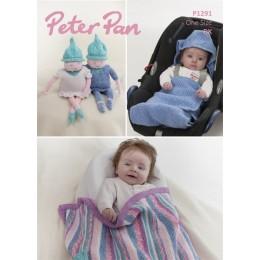 PP1291 Baby Rainbow Blanket, Pixie Toys & Car Seat Blanket in Peter Pan Pixie DK