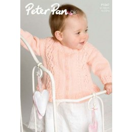 P1047 Baby's Cardigan DK