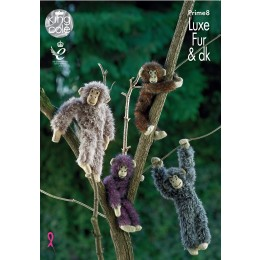KC PRIME8 Knitted Monkey in King Cole Luxe Fur