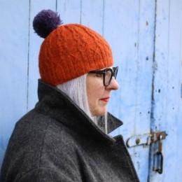 Baa Ram Ewe Reedmace Hat in Pip Colourwork