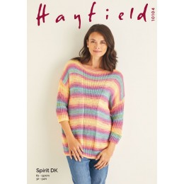 S10104 Women's Sweater in Hayfield Spirit DK