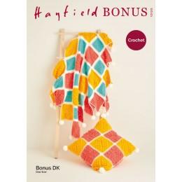 S10120 Crochet Blanket & Cushion in Hayfield Bonus DK