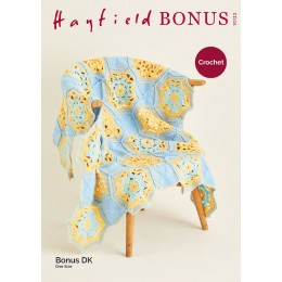 S10122 Crochet Blanket in Hayfield Bonus DK