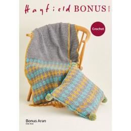 S10125 Crochet Runner & Cushion in Hayfield Bonus Aran