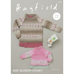 S4715 Sweaters for Babies in Hayfield Baby Blossom Chunky