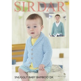 S4730 Cardigans for Babies and Children in Sirdar Snuggly Baby Bamboo DK