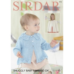 S4732 Cardigan for Babies and Children in Sirdar Snuggly Baby Bamboo DK