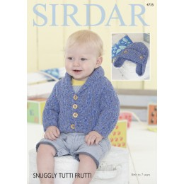 S4735 Hat and Cardigan for Babies in Sirdar Snuggly Tutti Frutti