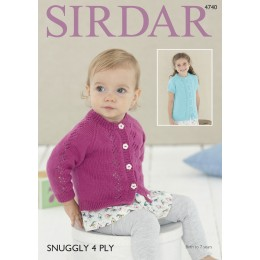 S4740 Cardigans for Babies and Children in Sirdar Snuggly 4ply