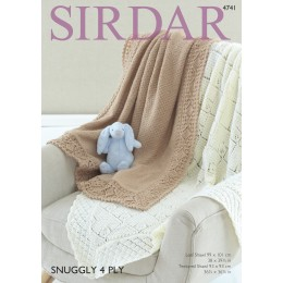S4741 Two Shawl Designs in Sirdar Snuggly 4ply