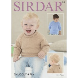 S4742 Sweaters for Babies and Children in Sirdar Snuggly 4ply