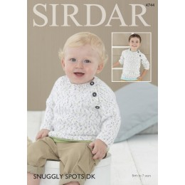 S4744 Sweater for Babies and Children in Sirdar Snuggly Spots DK