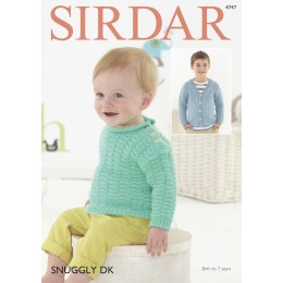 S4747 Cardigan and Sweater for Babies and Children in Sirdar Snuggly DK