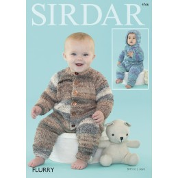 S4766 Onesie for Babies in Sirdar Flurry