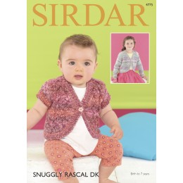 S4775 Boleros for Babies and Children in Sirdar Snuggly Rascal DK