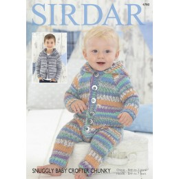 S4780 Onesie and Jacket for Babies and Children in Sirdar Snuggly Baby Crofter Chunky