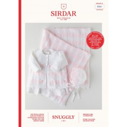 S5361 Baby's Coat, Bonnet & Blanket in Sirdar Snuggly 3Ply