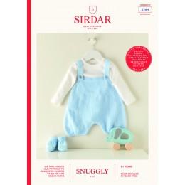 S5364 Baby Romper in Sirdar Snuggly 3 Ply