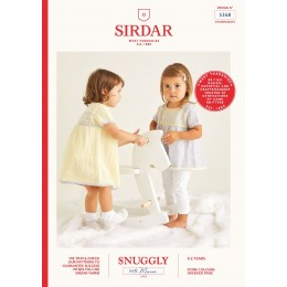 S5368 Girl's Dress & Tunic in Sirdar Snuggly 100% Merino 4Ply