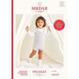 S5370 Baby Romper in Sirdar Snuggly 100% Merino 4Ply
