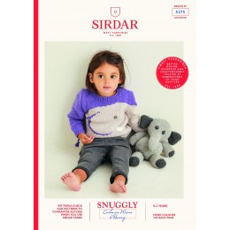 S5375 Babies Sweater & Elephant Toy in Sirdar Snuggly Cashmere Merino & Bunny