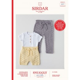 S5377 Shorts & Leggings for Babies in Sirdar Snuggly 100% Cotton DK