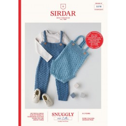 S5378 Romper & All-In-One for Babies in Sirdar Snuggly 100% Cotton DK