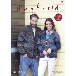 S7934 Cardigans for Men and Women in Hayfield Illusion